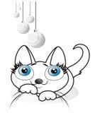 kattungewhite Royaltyfri Illustrationer
