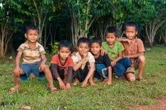 Katu etniczne chłopiec Obraz Royalty Free
