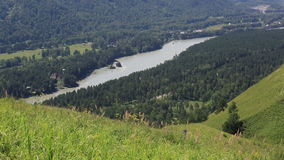Katun-Fluss vom Berg-blutigen Finger in Altai Krai Stockfotografie