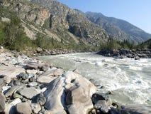 Katun- mountain river Stock Photo