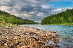 Katun river Royalty Free Stock Photos