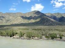 Katun river in Altai Stock Image