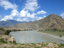 Katun river in Altai Royalty Free Stock Images