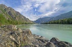 Katun River, Altai, Russia. Stock Photos