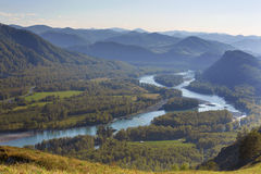 Katun River Valley Stock Image