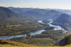 Katun River Valley Stock Image