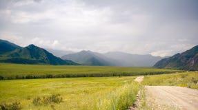 Katun River Valley. Mountain Altai Stock Photo