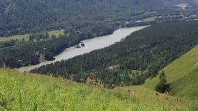 Katun rzeka od góra Krwistego palca w Altai Krai Fotografia Stock