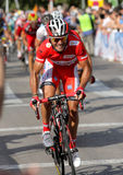 Katusha小组骑自行车者Joaquim Purito罗德里格斯 免版税图库摄影