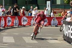 Katusha Alpecin drużyny konkurent przy Giro 2017, Mediolan Obrazy Stock