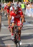 Katusha lagcyklist Joaquim Purito Rodriguez Royaltyfri Fotografi