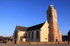 Katwijk holandés de la ciudad de la iglesia Fotos de archivo libres de regalías