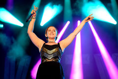 Katy B (English singer and songwriter) concert at FIB Festival Stock Image
