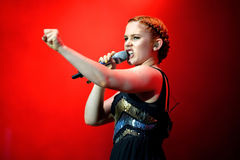 Katy B English singer and songwriter concert at FIB Festival Stock Photo