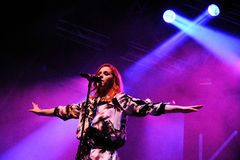 Katy B (English singer and songwriter, and a graduate of the BRIT School) performs at FIB Royalty Free Stock Photo