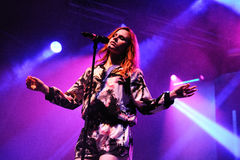Katy B (English singer and songwriter, and a graduate of the BRIT School) performs at FIB Stock Photo