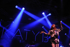 Katy B performs at FIB Royalty Free Stock Photos
