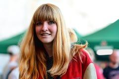 Katy Goodman, of La Sera (band), portrait at Heineken Primavera Sound 2014 Festival Royalty Free Stock Photo