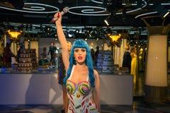 Katy Perry в музее Grevin диаграмм воска в Праге Стоковые Изображения