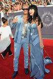 Katy Perry et Riff Raff Images stock