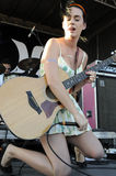 Katy Perry performing live. Stock Photo