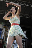 Katy Perry performing live. Royalty Free Stock Photo
