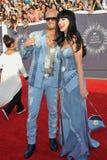 Katy Perry & Riff Raff arkivbilder