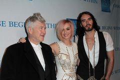 Katy Perry, Russell Brand, David Lynch Stock Photography