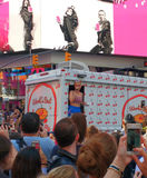 Katy Perry in Times Square, NYC, USA Stock Photography