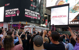 Katy Perry in Times Square, NYC, USA Stock Photos