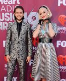 Katy Perry and Zedd royalty free stock image