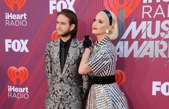 Katy Perry and Zedd stock images