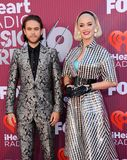 Katy Perry and Zedd royalty free stock photos