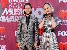Katy Perry and Zedd royalty free stock photography