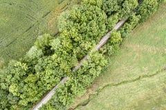 Katy Trail recreativa en Missouri - visión aérea foto de archivo
