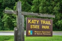 Katy Trail State Park Royalty-vrije Stock Foto
