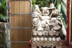 Katyayana or Gautama Buddha or Phra sangkatjay happy and smile Buddha. For people respect praying at Tin Hau Temple or Kwun Yam Shrine at Repulse Bay on royalty free stock image