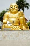 Katyayana or Gautama Buddha thai name called Phra sangkatjay happy. And smile Buddha for people praying at Wat Sakae Krang on July 19, 2017 at Uthai Thani stock photography