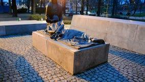 Katyn massacre memorial in Wroclaw (aka Breslau), Poland, stock video