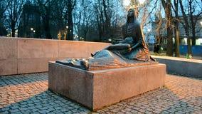 Katyn massacre memorial in Wroclaw (aka Breslau), Poland, stock footage
