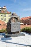 Katynmonument bij Podwale-Straat in Warshau stock foto
