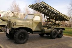 Katyusha multiple rocket launcher BM-13 Stock Image