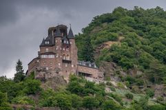The Katz Burg at the Loreley. royalty free stock photography