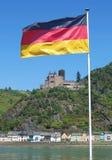 Katz Castle,Rhine Valley,Germany. Katz Castle and the Village of St.Goarshausen in rhine valley near Loreley,Rheingau,germany royalty free stock photo