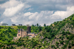 Katz Castle at Rhine Valley near St. Goarshausen, Germany Royalty Free Stock Image