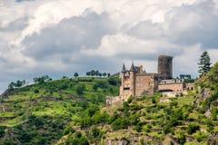 Katz Castle at Rhine Valley near St. Goarshausen, Germany Royalty Free Stock Photos