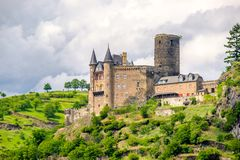 Katz Castle at Rhine Valley near St. Goarshausen, Germany Royalty Free Stock Images