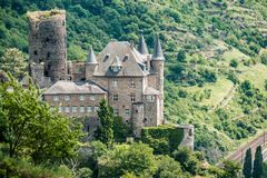 Katz Castle at Rhine Valley near St. Goarshausen, Germany Royalty Free Stock Photography