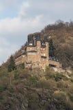 katz de burg Rhénanie Allemagne pendant l'hiver images stock