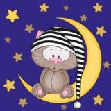 Katze auf dem Mond Lizenzfreies Stockfoto